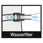 Integrated water fine mesh filter