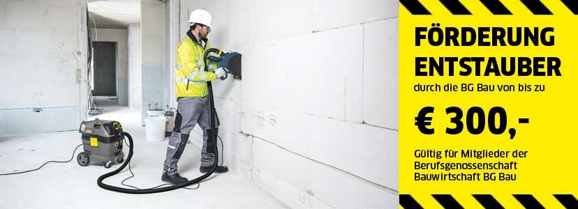 Hervorragend Aktion Förderung der BG Bau   Kärcher Sauger   Bau-Entstauber LB16