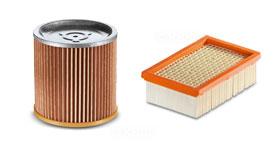 Patronen-Filter geeignet für Karcher A2254 M 10 Staubsaugerbeutel 1.723-300.0