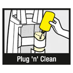 Plug 'n' Clean - Simply plug the bottle into the pressure washer