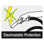 Handle with protection against electrostatic charging