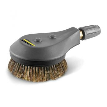 Rotating wash brush for high-pressure cleaner < 800 l/h, natural bristles