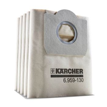 Kärcher Filter bags for wet and dry vacuums WD, MV, A, paper (5 pcs.) 6.959-130.0