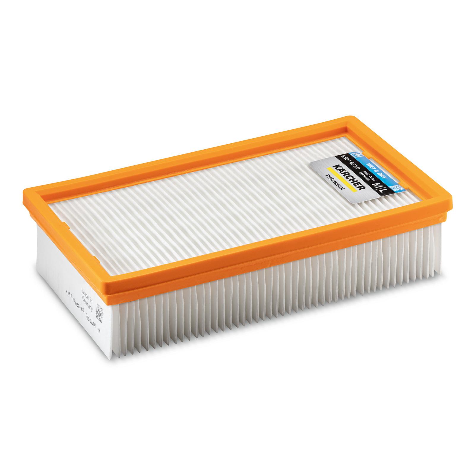 Filtre pour KARCHER KM 70//30 C Bp Pack Adv-poussières classe L Filtre plissé plat