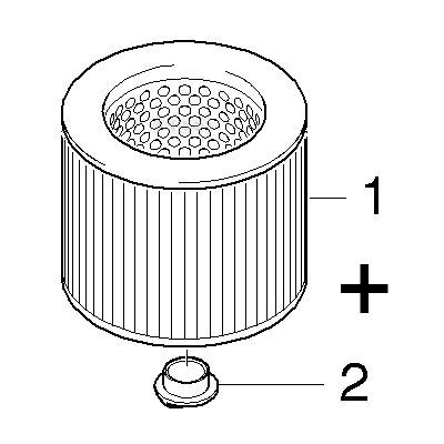 Filter für Kärcher A 2200 und A 2206 Rundfilter Patronenfilter