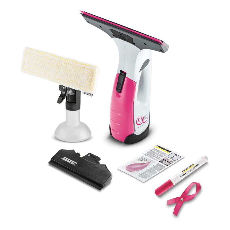 k rcher wv 2 premium pink ribbon fenstersauger online kaufen k rcher store schreiber. Black Bedroom Furniture Sets. Home Design Ideas