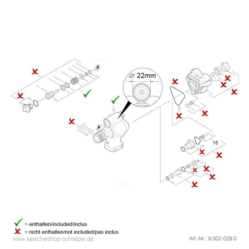 k rcher steuergeh use mit steuerkolben 22 mm k rcher store schreiber. Black Bedroom Furniture Sets. Home Design Ideas